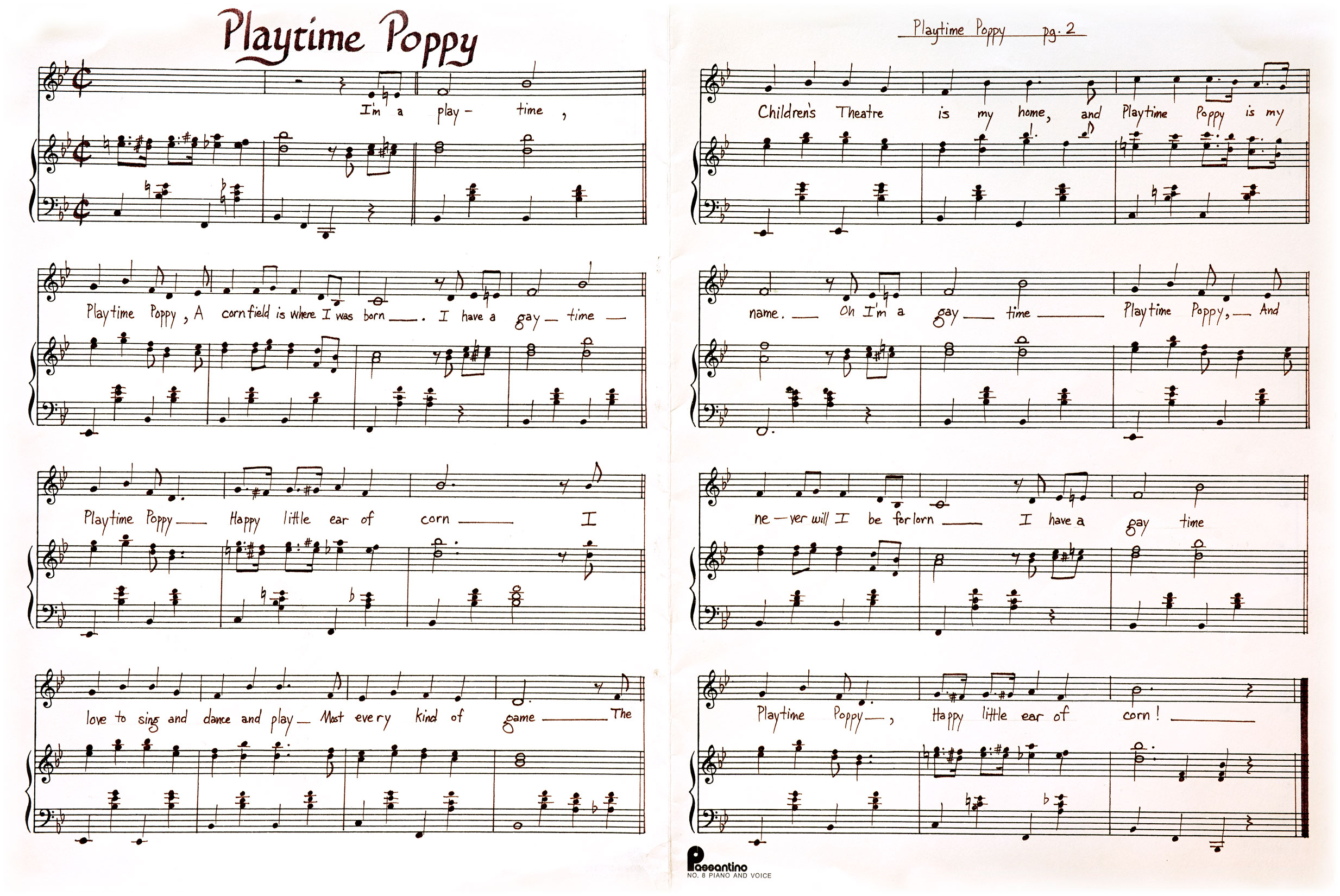 Playtime Poppy sheet music